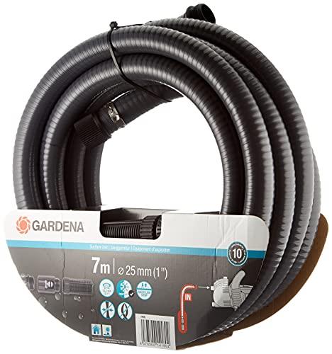 Équipement d'Aspiration 7 M de Gardena: Tuyau d'Aspiration Robuste pour Raccordement à la Pompe de Jardin, Diamètre 25 mm (1418-20)
