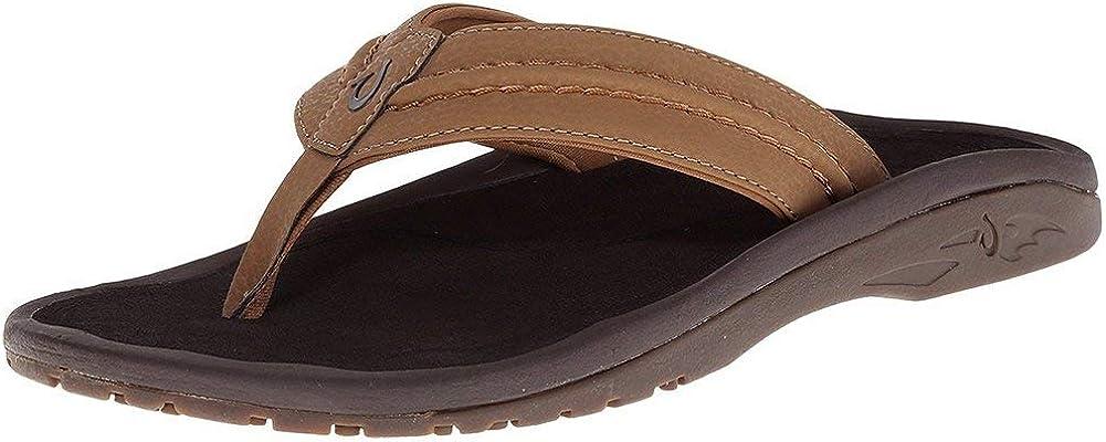 OluKai New color Hokua Men's Beach Sandals Slides Quick-Dry Super sale Flip-Flop Wa