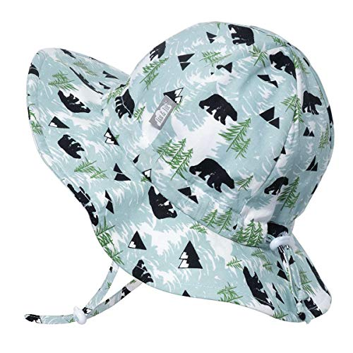 JAN & JUL Infant Boy Sun-Hat, Stay-on Chin-Strap with Safety Clip (S:...