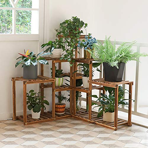 Malayas Wooden Plant Stand 10 Ti...
