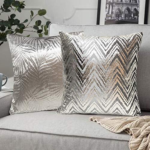 FRECINQ Fundas Cojines 45x45cm Cojines Sofa 2 Piezas Funda de Almohada Style Geométrica para el Sofa Sillas Jardín Decoración Coche Sala de Estar