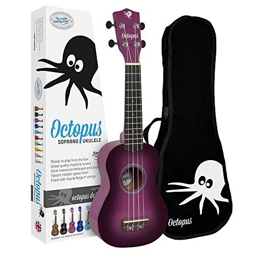 Ukelele soprano Octopus color morado