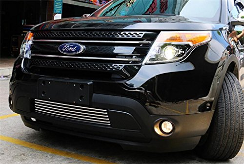 Vesul Front Bumper Lower Grill Grille Cover Trim Compatible with Ford Explorer 2011 2012 2013 2014