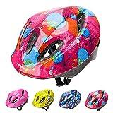 Casco Bicicleta Bebe Helmet Bici Ciclismo para Niño - Cascos para Infantil - Bici Casco para Patinete Ciclismo Montaña BMX Carretera Skate Patines monopatines (M(52-56 cm), Pink Abstract)