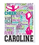 Competitive Cheer Typography Personalized Print - PrintChicks Cheerleading Art Decor Poster Team Gift