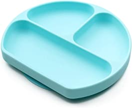 Silicone Grip Dish, Suction Plate, Divided Plate, Baby Toddler Plate, BPA Free, Microwave Dishwasher Safe
