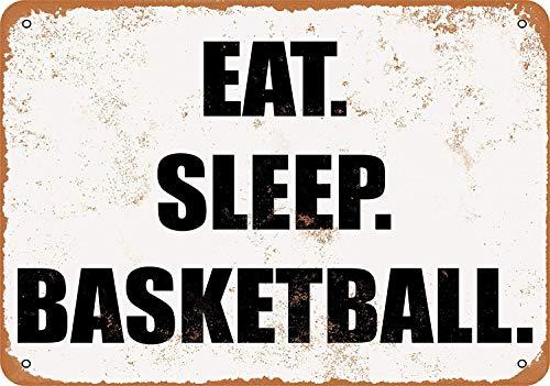 EAT. Sleep. Basketball. Metall Zeichen Poster Wandtafel Blechschilder Vintage Warnschild Retro Schilder Blech Dekorative Bar Pub Café
