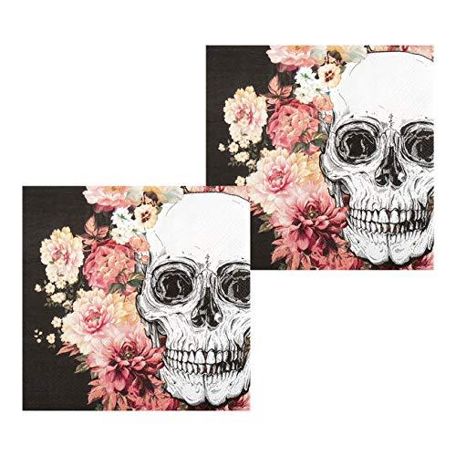 Boland BOL97078 Lot de 12 Napkins Day of The Dead Multicolore 33 x 33 cm