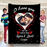 NY Creation - Couple Love in Heart Blanket   to My Wife Blanket from Husband   Gift It to Your Wife on New Year, Anniversary, Wedding, Birthday 60x80 Sherpa Blanket.