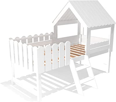 BAUMHAUS - Cama infantil con tobogán (madera maciza, incluye ...