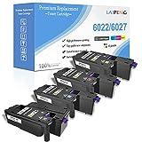 4 Colores Cartucho de Tóner Compatible 6020 6022 6025 6027 6028 Capacidad Estándar 2000 Páginas Negro 1000 Páginas C M Y para Impresoras Xerox Phaser 6020 6022 WorkCentre 6025 6027 6028