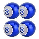 EUYBDZSW Reifenventildeckel Ball Nummer 8 Gas Cap Mundstück-Abdeckung Reifen Kappen-Auto-Reifen Ventilkappen Auto Dekoration Zubehör,...