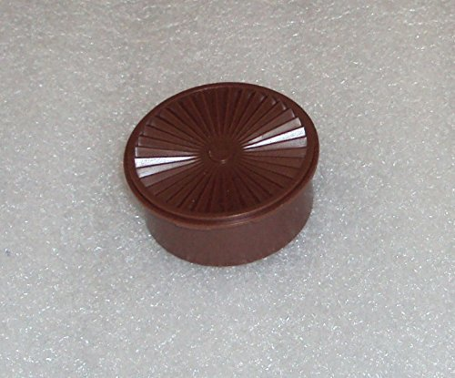 Tupperware Vintage Mini Servalier Stacking Canister Refrigerator Magnet Brown