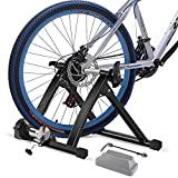 ZSW Bike Trainer Stand for Indoor Riding Stationary Bike Stand Bike Resistance Trainers Bicycle Trainer Exercise Magnetic Flywheel Stand Fit for 24-29' 700c Wheels Road Mountain Bike