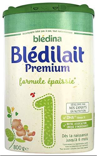 Blédina Blédilait Premium 1er Âge Formule Epaissie dès la Naissance et Jusquà 6 Mois 800 g