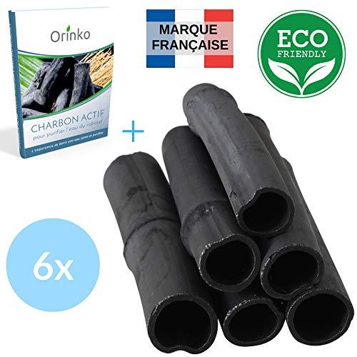 Binchotan Bio 6X   Charbon Actif Binchotan de Bambou pour Purification d'eau en Carafe   Passez-vous de l'Eau en Bouteille Pendant 1 An avec notre Charbon Végétal + E-Book [Satisfait ou Remboursé]