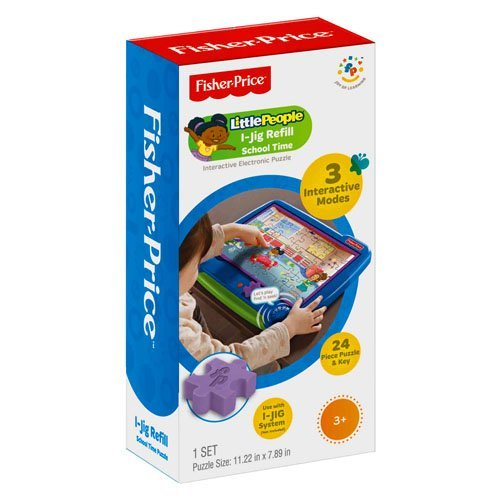 Fisher Price I-Jig Interactive Electronic Puzzle System Refill - Little People School Time by Fisher-Price