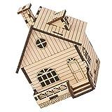 ifundom Casa de Navidad Caja de Música 3D Casa de Madera Rompecabezas DIY Mecanismo Modelo Kits de Artesanía Regalos Casa de Pan de Jengibre Decoraciones de Mesa
