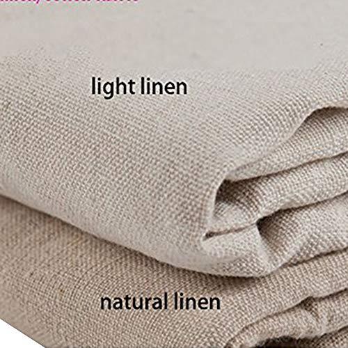 YOUMU, tessuto di lino e cotone naturale, colore pieno, in canapa iuta, per artigianato e decorazioni, 157,5x 99,1cm, Light Linen, 62'' x 39''