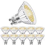 Eofiti Bombillas GU10 Cálida, 6W GU10 LED 2700K Blanco Cálido Equivalente a 50W Lámparas Halógenas AC 230V Ojo de Buey 540LM Ángulo de Haz de 120°Spot Luz GU 10 Ra 83 No Regulable Paquete de 10