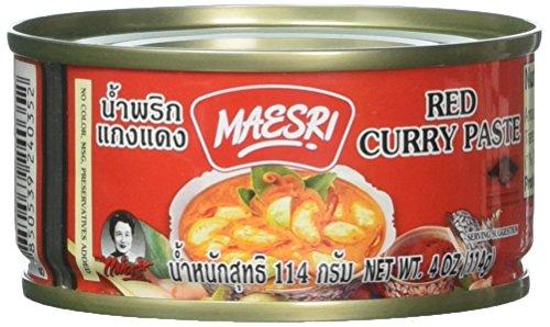 Maesri Thai red curry  4 oz x 2 cans