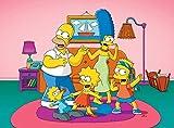 Puzzle 1000 piezas Regalos artísticos de la serie 4 de carteles animados de Los Simpson puzzle 1000 piezas adultos Juego de habilidad para toda la familia, colorido juego de u50x75cm(20x30inch)