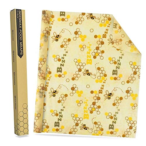"""Nebula Organic Beeswax Food Wrap Roll 1m, 13"""" x 40"""", Sustainable Storage for Snacks, Sandwiches, Leftovers and Lunch, Biodegradable and Washable, Kitchen Pantry or Refrigerator Use"""