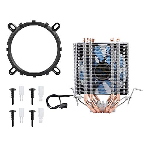 Acouto CPU Radiato, 4 Heat Pipe CPU Ventilador Radiador Enfriador del disipador de Calor para Intel LGA 1155/1156/1366, Heat Pipe CPU...