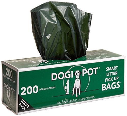 DOGIPOT 1402-10 10 Roll Case, Litter Pick up Bag Rolls, 200 Bags per Roll, Pack of 10