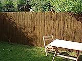 Nature LOUNGE Weidenmatte 90 x 300 cm - Hochwertiger Weiden Sichtschutz Zaun - Weidenzaun Matte für Haus