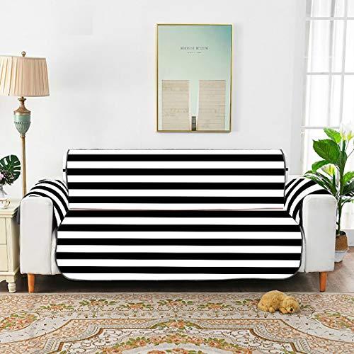 """Zemivs Vektor gestreift Nahtlose Muster schwarz weiß Sofa Throw Cover ausgestattet Sofa Cover Recliner Sofakissen für 45\""""(114cm) Sofa schützen vor Kindern Hunde Haustiere"""