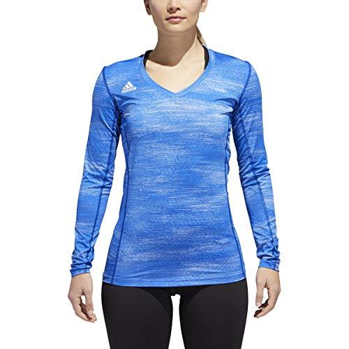adidas Damen Volleyball Hi-Lo Langarm Trikot, Damen, Collegiate Royal Mel, X-Small
