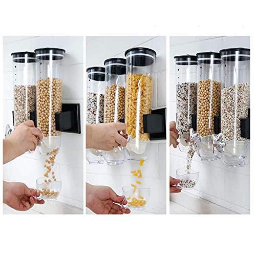 Dispensador de cereales montado en la pared, contenedor de a