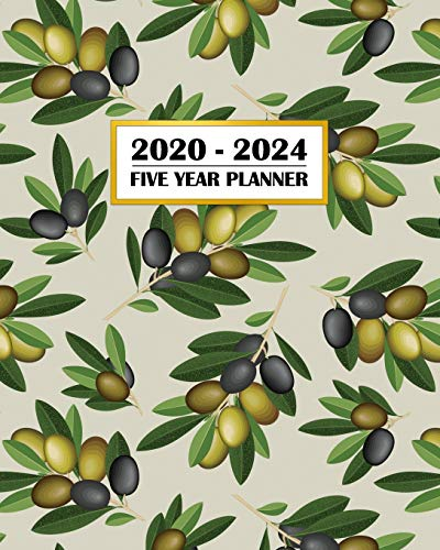 2020-2024 Five Year Planner: Italian Olives Fresh Tuscany Country Flavor | Foodie Fun | 60 Month Calendar and Log Book | Business Team Time Management ... 5 Year - 2020 2021 2022 2023 2024 Calendar)