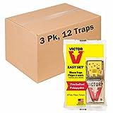 Victor EZ Set Wooden Snap Trap - 12 Pack