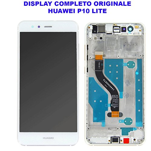 OEM SYSTEMS Vetro Schermo Display LCD Touch Screen Huawei P10 LITE BIANCO WHITE Completo Cornice Telaio Frame WAS-LX1 LX1A