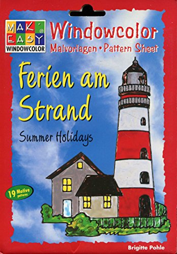 Windowcolor - Ferien am Strand - Malvorlagen - Pattern - Sheet - Summer Highlights - 19 Motive patterns - [Window Color, Mak Easy, Hobbidee 6115, ]