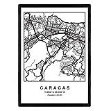 Nacnic Drucken Stadtplan Caracas skandinavischen Stil in