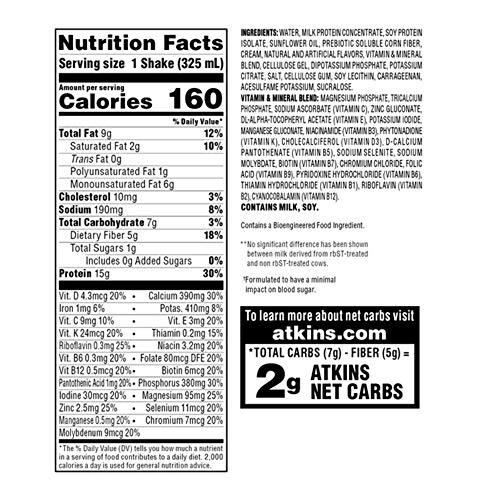Atkins Gluten Free Protein-Rich Shake, Creamy Vanilla, Keto Friendly, 8 Count (Pack of 1) 6