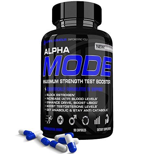 Test Booster by Life's Armour Alpha Mode | All Natural Testosterone Booster Supplement, Estrogen Blocker, Libido Enhancer with Tribulus Terrestris, Long Jack. Boost Testosterone Levels