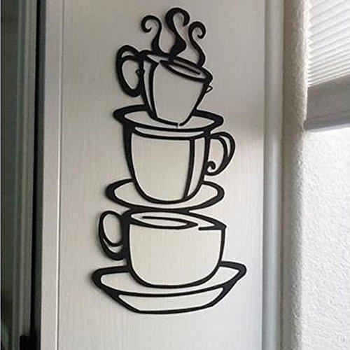 DIY decoración de la cocina taza de café calcomanía vinilo pared pegatina tienda dedicada cafetería decoración pared pegatina papel tapiz A6 57x103cm