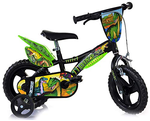 Dinobikes Jungen Kinderfahrrad Fahrrad, Grün, 12 Zoll