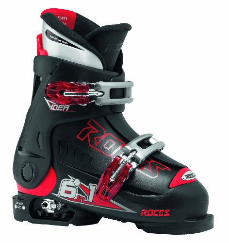 Roces Kinder Skischuhe Idea 16.0-18.5 MP, Black-red, 25/29
