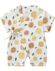 الوليد طفلة الفتيان السروال القصير بذلة بأكمام قصيرة الأزهار طباعة الصيف الرضع الطفل كيمونو ملابس اللعب 0-18 متر (Color : C, Kid Size : 18M)
