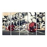 islandburner Bild Bilder auf Leinwand Gewicht im Fitnessraum, Close up horizontale Foto Wandbild,...