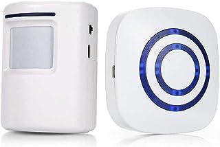 Door Bell,Wireless Doorbell Motion Sensor Smart Visitor doorbell Home Security Driveway Alarm with 1 Plug-in Receiver and ...
