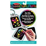 Melissa & Doug Scratch Art Key Chain Party Pack Activity Kit - 6 Key Chains