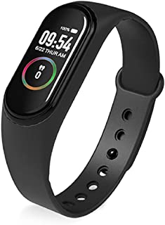 Pulsera Actividad Reloj Inteligente Fitness Tracker Podómetro Monitor Impermeable IP67 con Pulsómetro Mujer Hombre, Reloj Fitness, con Podómetro(Color:Negro)