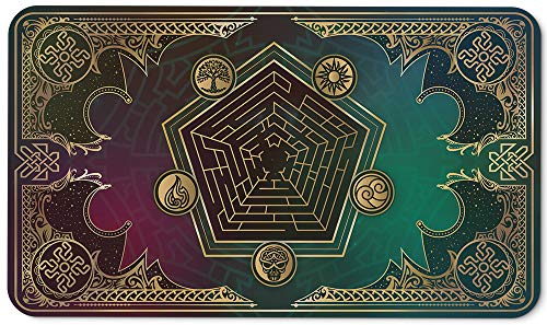 Paramint Mana Blast - MTG Playmat - Compatible for Magic The Gathering Playmat for Casual & Competitive Card Matches - Play MTG, YuGiOh, Pokemon, TCG - Original Play Mat Art Designs & Accessories