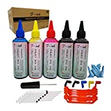 F-ink 5x100ml Bottles Ink and Ink Refill Tools Compatible for Canon PGI-280XL CLI-281XL PGI-280XXL CLI-281XXL PGI-270XL CLI-271XL Ink Cartridges-Reuse The Old OEM Ink Cartridges